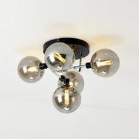 Moderna de techo de luz LED de la lámpara de techo de la bola de cristal para estar Cocina Dormitorio Iluminación para el hogar Lustre Negro Cromo Cobre 90-260V