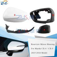 ZUK Araç Aksesuarları Yan Ayna Alt Kapağı Dikiz Aynası Konut Çerçeve Dönüş Sinyal İçin Mazda CX-4 CX-5 2015 2016 2017 2018