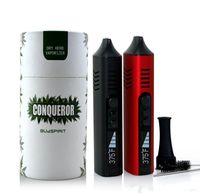 Originale Cigarette Conquistatore TC Secco Erbe vaporizzatore elettronico in ceramica Riscaldamento Camera 2200mAh OLED Batteria erbe Vape Pathfinder Kit Pen