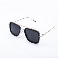 Moda datati occhiali da sole Men Square Occhiali Classico Donne Coating Punti Black Frame Occhiali da sole UV400 Eyewear fy2211