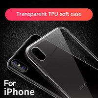 Ultra mince Clear Transparent Soft Protection TPU antichoc souple pour iPhone XS MAX XR 6 6S 7 8 Plus mince Clear Silicone Covers