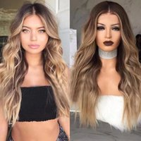 fashion Long loose Wave Synthetic Hair Wig Japanese Fiber Hi...
