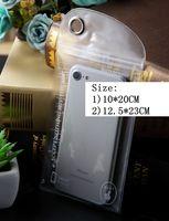 명확한 방수 파우치 커버 지퍼 보호 소매 패키지 포장 플라스틱 opp 가방 아이폰 5 6 7 8 플러스