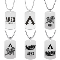 Apex Legends Collana Dog Tag Acciaio inossidabile Hot Game Fans Souvenir Friends Regalo per bambini APEX LEGENDS Collane con ciondolo Gioielli all'ingrosso