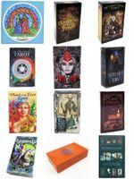 FRANÇAIS Version 12 Styles Cartes de tarot 78pcs / Set Cartes de jeux de société avec boîte colorée Instructions en anglais Envoyer par email Jouets enfants KSS398