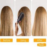 Cheveux Sèche-cheveux Brosse à une étape Brosse à air chaud électrique 2 en 1 Volumiseur de cuillère à cheveux Volumiseur ionique Sèche-cheveux Bouchoir Tool Cheveux LXL810-1