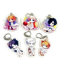 6pcs set Anime Keychain The Promised Neverland Emma Norman Y...