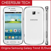 سامسونج GALAXY تريند DUOS II S7572 S7562I الجيل الثالث 3G الهاتف الذكي 4.0 بوصة وشاشة Android4.1 WIFI GPS ثنائي النواة مفتوح