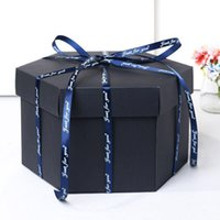 13cm Creative Explosion Black Box Love Memory multi-couche Surprise Confession DIY photo comme Cadeaux anniversaire