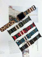 Cinturino in vera pelle stampata leopardo per iwatch 38mm 42mm 40mm 44mm Cinturino cinturino orologio sportivo per Apple Watch 4 3 2 1 cinturino