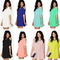 المرأة الصيف بلوزات ملابس فضفاضة قميص قصير الأكمام الشيفون فستان مصمم عارضة أزياء قصيرة الأكمام T-shirt قمزة أعلى S-XXXL CZ605