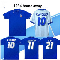 1990 1994 soccer jersey maison loin rétro équipe nationale Italie 94 Italie MALDINI Baresi Roberto Baggio ZOLA CONTE cru maillot de football classique