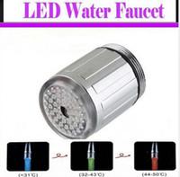 Monokromatik ışık ve 7 Renkler LED Su Duş Başlığı Işıkları Glow Çoğu Musluk Mutfak Banyo Için Adaptör Ile LED Musluk dokunun J41