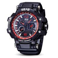 2018 новые поступления часы мужская мода бизнес наручные часы два движения многофункциональный с водонепроницаемый Карлендар сплава кварцевые часы