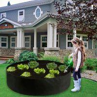 حديقة تزايد جولة حقيبة زراعة الحاويات المنزل والحديقة تنمو وسائد هوائية للفيلت النباتية أدوات النسيج تنفس الغراس وعاء وعاء الحضانة