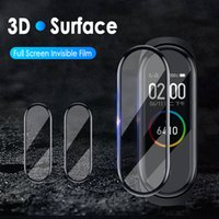 200pcs 3D suave protector de pantalla para Xiaomi Mi Banda 5 SmartWatch Miband 4 completa película de la cubierta protectora (n vidrio templado)