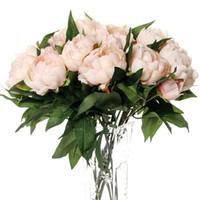 Шелк искусственный Пион цветы Флорес artificiais para decora o artificiales для дома свадебные украшения поддельные цветок дешевые
