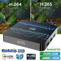 Android TV Box Super V98 Rockchip 3318 Quad-core 4k Smart Iptv Box 2 + 16/4 + 32GB con WiFi BT4.0 Streaming Media Player tx6