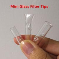 Mini-Glasfilter Tipps für trockene Kräuter Tabak RAW Blättchen mit Tabak Zigarettenspitze Thick Pyrex Bunte Glasrauchpfeifen
