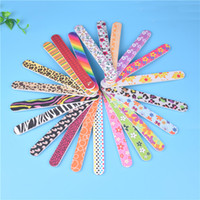 NAD019 rainbow Colorful Sanding Nail File Printed Double Sid...
