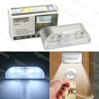Capteur de mouvement LED lumière de nuit lumière poignée de porte 4Leds 6500K pour la salle de bain d'intérieur Corridor Chambre à coucher Chambre à coucher Vivre Salle d'étude DHL