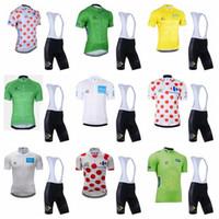 Tour de France Team Radfahren Kurzarm Jersey (Lätzchen) Shorts Sets Herren Fahrrad Jersey Outdoor Sportswear Verschiedene Stile C627-44