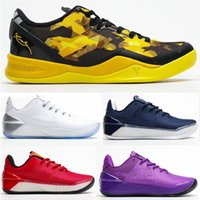 New MAMBA 8 Bryant Sistema GC 8s Homens Basketball Shoes A.D Ep virar a chave Lakers Sports Sneaker Preto Luxury Sneakers Chaussures