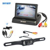 DIYKIT Wireless 4.3 inch Auto omkeren Camera Kit Back-up Auto Monitor LCD Display HD Auto Achteruitrijcamera Parkeersysteem