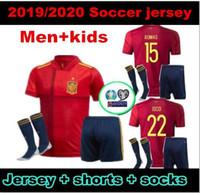Euro 2020 Spanien Fussball Jersey Erwachsene und Kinder 20 21 Camiseta de Fútbol Sergio A.Inasta Koke Asenssio Ramos Silva Isco European Cup Football