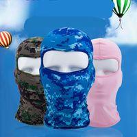 Máscara de la motocicleta Fuerza Elástica verano protector solar a prueba de polvo pieza facial Sombrero Ventilación complementos de equitación venta caliente -2 6WL UU