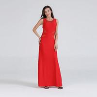 Hohe Qualität Frauen Mode Durchsehen Kleid Sexy Rot Kleid Gürtel Mieder Abendgeschwindigkeit Taille Enge Elegante einteiliges elegantes Kleid