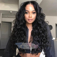 130% Density Loose Wave Lace Front Wigs 8- 26inch Natural Col...
