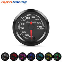 "Dynoracing 2"" 52mm 7 Colors LED Car Oil Temp Gauge 40- 1..."