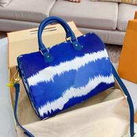 حقيبة الكتف حقيبة المرأة حقائب الموضة العبث متدرجة اللون الفني المرقعة أسطواني الشكل المرأة CROSSBODY حقائب شحن مجاني