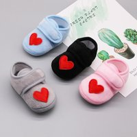 High Quality Autumn Baby Boys Girls Shoes Anti- Slip Heart Pr...