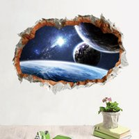 3D Wall Decor Walle Planet Wall Stickers per bambini Camere Home Decor FAI DA TE Spazio esterno Poster Murale Carta da parati Decalcomanie