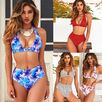 2019 New Bikinis Women Swimsuit High Waist Bathing Suit Plus...