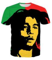 Casual Uomo Womans Bob Marley 3D HD Stampa T-shirt Estate a maniche corte T-shirt O-Collo Stile di modo Unisex Shirt Marca Tees RX014