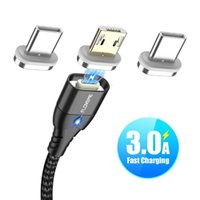 Магнитный кабель Micro USB Тип C для телефонного кабеля 1 м 3А Быстрая зарядка проволоки Тип-С Магнитное зарядное устройство Телефон