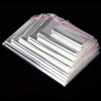100PCS Storage Bags Transparent Self Adhesive Resealable Cle...