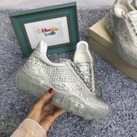 Diamond Sneakers Luxury Diamond Shoes Hombre Mujer Zapatos casuales Popular Luxury Shoes Sneaker de cuero genuino directo de fábrica