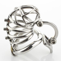 Male Chastity Device Unique Design Stainless Steel Cock Cage...