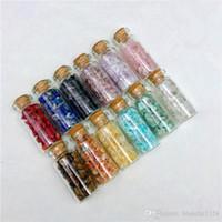 12 typen onregelmatige natuurlijke edelsteen exemplaar mineraal kristal agaat jade quartz wensen fles verpletterde steen groothandel