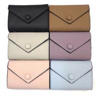 Commercio all'ingrosso della borsa della moneta del progettista breve raccoglitore per le donne Holder carta colorata scatola originale Donne Classic Zipper Pocket Victorine