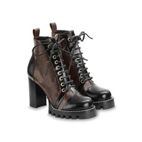stivali Nuovo Desert Boot Traccia stellare STIVALETTO donne 100% Pattini stampa di lusso Vera Pelle Inverno Martin stivali dimensioni US4.5-11