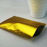100pcs Mat Altın Alüminyum Folyo Düz Çanta Mylar Kaplama Plastik Torbalar ısıyla yapışabilir Dumb Altın Batarya Ambalaj Kılıfı USB Flash Sürücü Çuval