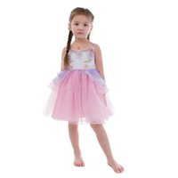 Baby Girls Unicorn Dress Flower Princess Dresses kids Party ...