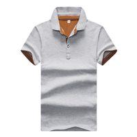 Neue Herren Polo Shirts im Sommer 2019 Korean Fashion Cotton Kurzarm T-Shirts für Jugend Freizeit Kultur Werbung Shirts
