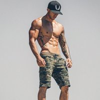 Mens Gym Fitness Cotton Camouflage Shorts Run Jogging Outdoo...
