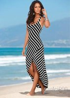 spring summer new explosion models Europe and America stripe...